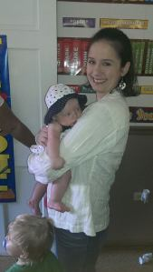 Alliyah and I when she is 4 months old.  No rashes on AJ and I'm one happy Mama!