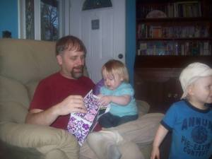 Jeff and Alliyah on her first birthday...still my gorgeous healthy family!